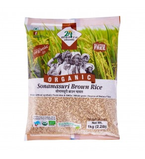 24Mantra Brown Sonamasuri Raw Rice 1Kg