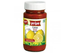 Priya Hot Lime Pickle (With Garlic) 300g